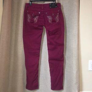 Miss Me Raspberry Wine Skinny Jeans size 29x31